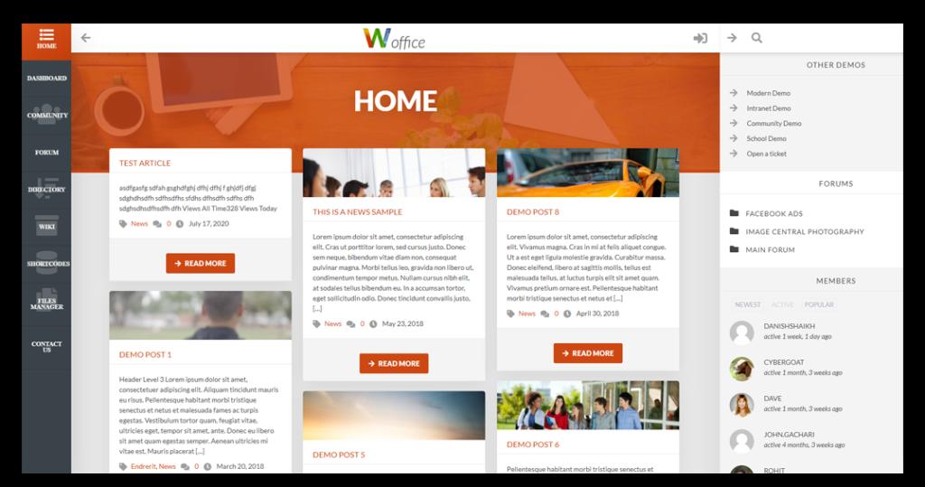 Woffice Blog Demo UI